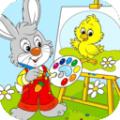小兔子学画画