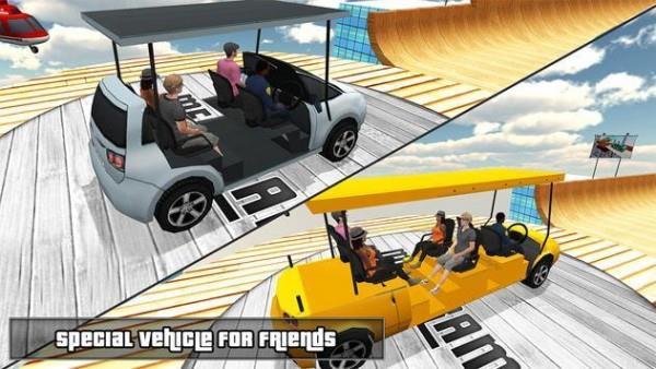 3D汽车超级坡道
