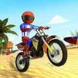 海滩摩托车竞速