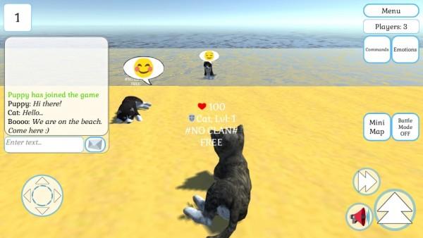 可爱的猫咪和小狗