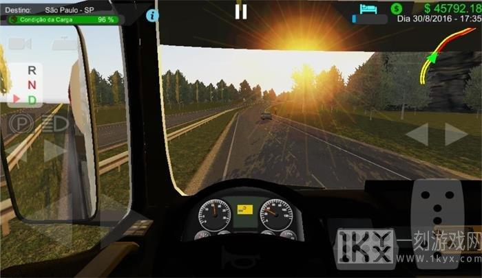 大卡车道路模拟驾驶