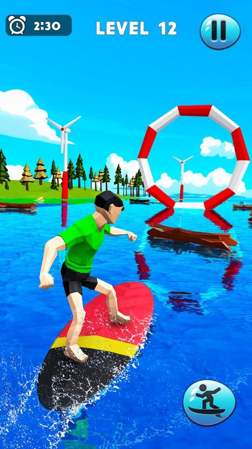 疯狂的水上冲浪特技