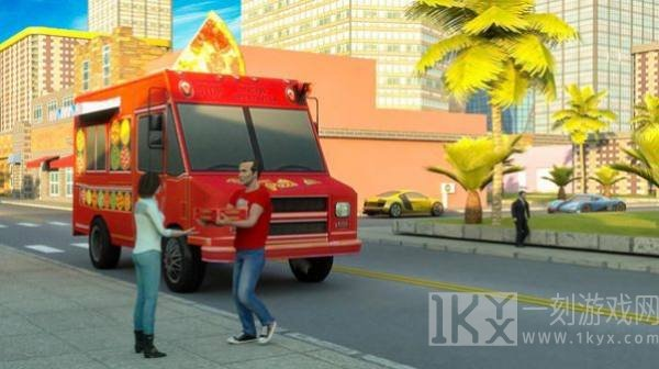 摩托披萨送货员