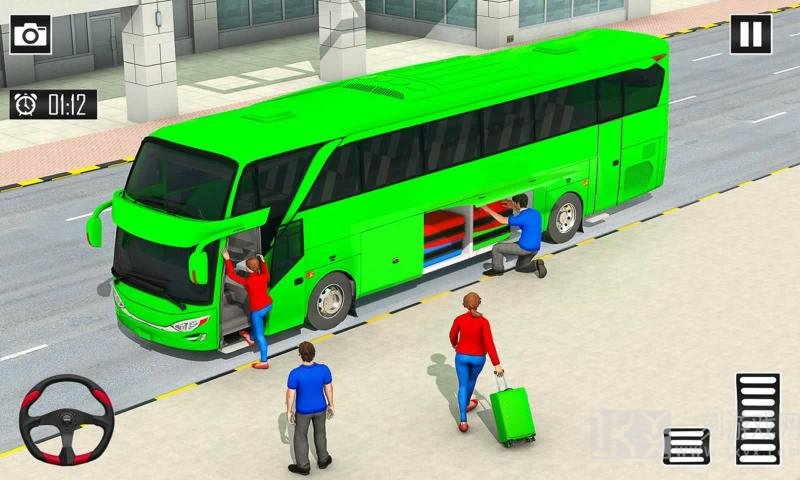 快乐的公交车司机