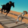 牛仔骑马赛跑