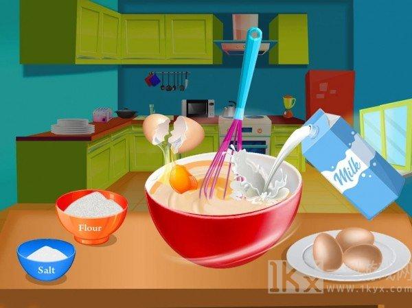 在厨房做意大利面食品