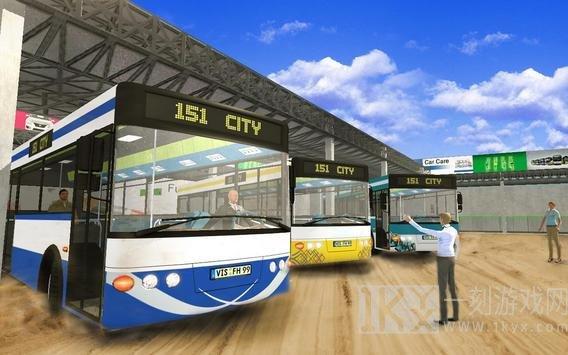 旅游巴士山司机运输