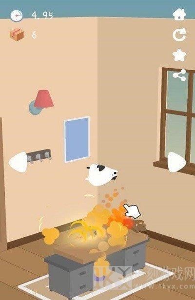猫咪掉下来啦