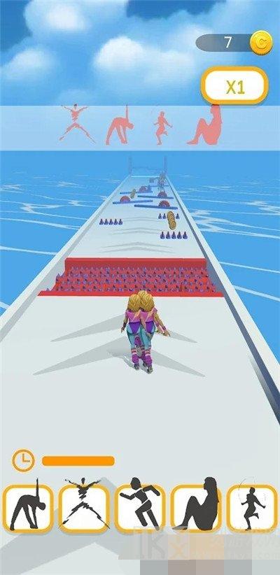 体操运动员跑步3D