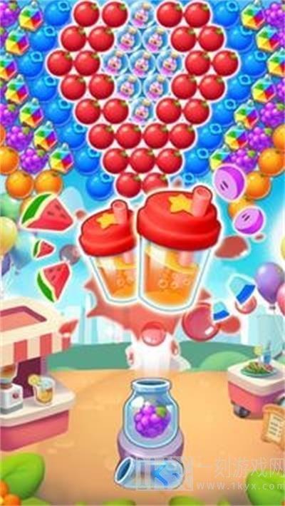 水果苏打汽水溅射泡泡龙