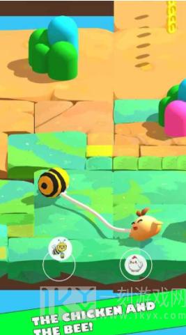 小鸡和蜜蜂