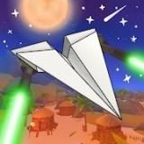 飞行的纸飞机