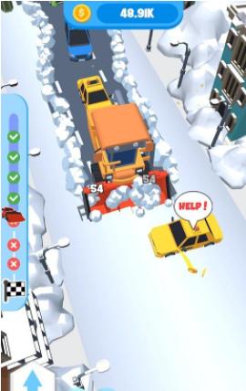 放置铲雪车救援截图