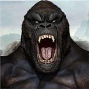 生气的大猩猩大脚怪物